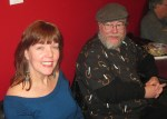 Diane Sahms-Guarnieri with Poet Jack Veasey at Almost Uptown 2 9 12 014