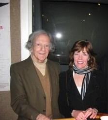 Poet Laureate Daniel Hoffman with FCR Poetry Editor Diane Sahms-Guarnieri at The Edgar Allan Poe House in Philadelphia 2009