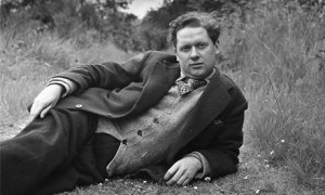 The poet, an 'unlikely icon' relaxes outdoors in 1946.?I