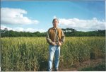 Stephen Page in front of wheat photo