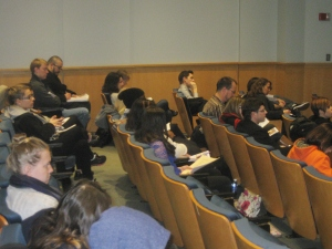 Crowd Shot at Women's History Month Poetry and Prose Reading- Stockton College of New Jersey
