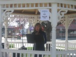Diane Sahms-Guarnieri reads in Lions Park for Philly Poetry Day