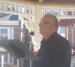 g emil reutter reads in Lions Park for Philly Poetry Day