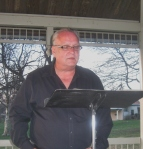 g emil reutter reads in Gorgas Park for Philly Poetry Day