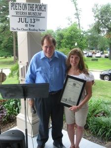 State Rep Mark Cohen and Poet Diane Sahms-Guarnieri