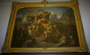 """Cortez Taking Prisoner Montezuma"" (1856), Artist: R.H. Schnider, 2nd floor gallery"