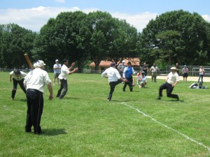 Athletic Base Ball club of Philadelphia plays Mohican Base Ball Club at Burholme Park in the Vintage Baseball League