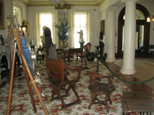 First floor house gallery at Ryerss Museum and Library