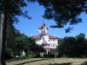 Ryerss Museum and Library atop the hill at Burholme Park- Philadelphia, Pa